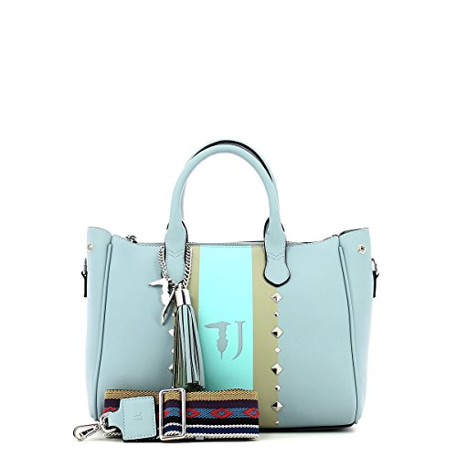 Trussardi Stud Blue 30 Tote Ecoleather à cm Light Medium Bag Jeans Blondie Sac main rwqZOprt