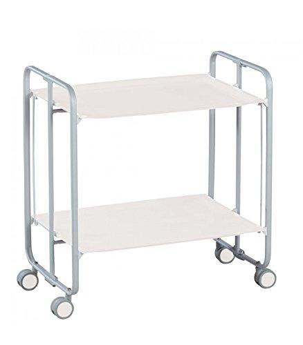 DON HIERRO Carrello Pieghevole Trolley Bianco/grigio DHO 71_279