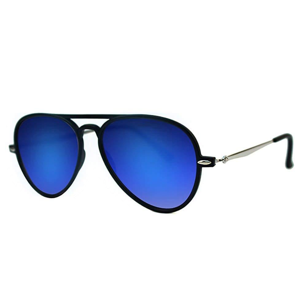 2b66c7841d Amazon.com  POP Fashionwear P4132 Unisex Flat Mirror Lens Aviator Sunglasses  Black Smoke Lens  Clothing
