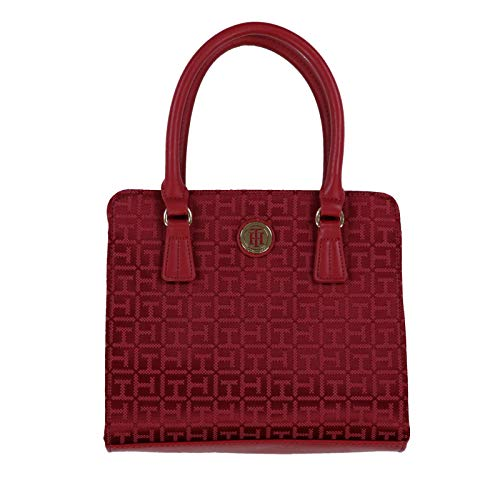 Tommy Hilfiger Crossbody Purse With Top Handle (Red)
