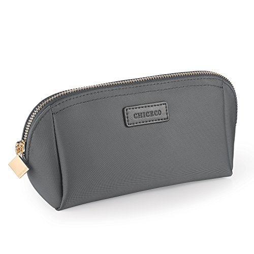 CHICECO Handy Cosmetic Pouch Clutch Makeup Bag - Dark Gray, Small