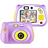 [32GB Memory Card Include] Kids Camera, Kids Digital Camera 12 Megapixel WiFi Kids Digital Camera for Boys Girls Gifts (Pink)