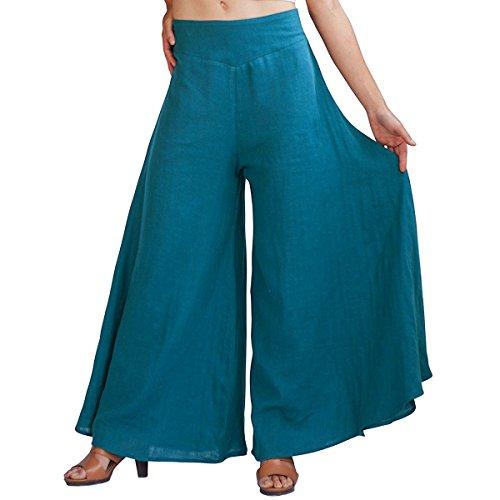 Kinikiss - Pantalón - Campana - para mujer Azul
