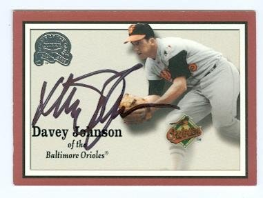 Davey Johnson autographed baseball card (Baltimore Orioles) 2000 Fleer Greats of the Game No.91