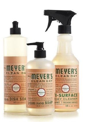 Mrs. Meyers Clean Day Kitchen Basics Set, Geranium Scent Eco-friendly Natural Cleaners