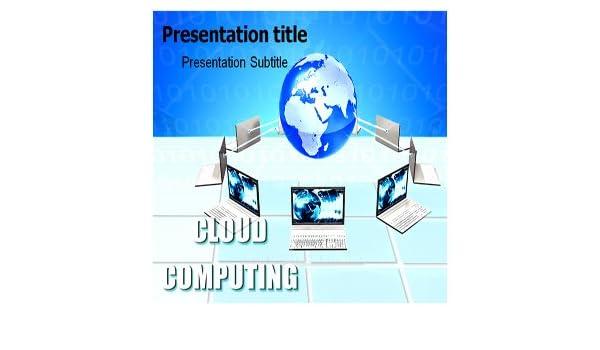 Amazon Cloud Computing Powerpoint Template Cloud Computing