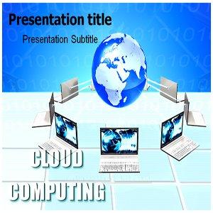Amazon com: Cloud Computing Powerpoint Template - Cloud