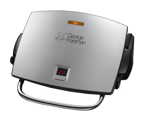 George Foreman 4-Portion Family Grill and Melt with Removable Plates 14525 - Silver