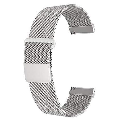 Chofit - Correa de repuesto para Fossil Q de malla milanesa, 18 mm, acero inoxidable con fuerte cierre magnético para Fossil Q Venture Gen 3 ...