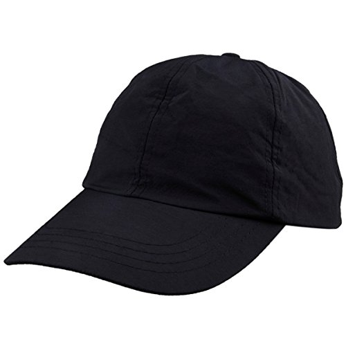 squaregarden Baseball Cap Hat,Running Golf Caps Sports Sun Hats Quick Dry Lightweight Ultra Thin,Black(Solid Color),One (Womens Fitted Cap)
