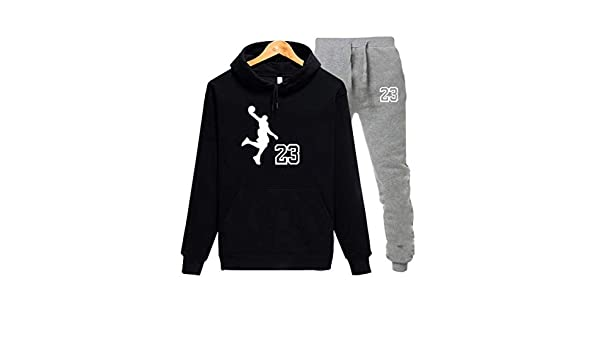 Jordan 23 Sport Suit Hoodie Hooded Men Cotton Sweatshirts Mens Casual Tracksuit at Amazon Mens Clothing store: