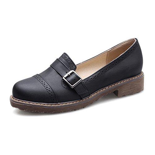 Retros ásperos profundos zapatos con tacón bajo de Inglaterra/zapatosColegio viento bajo/Zapatos del estudiante A