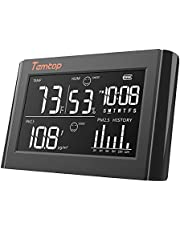Temtop P20 Digital Thermometer and Hygrometer PM2.5 Air Quality Monitor Temperature Humidity- Black