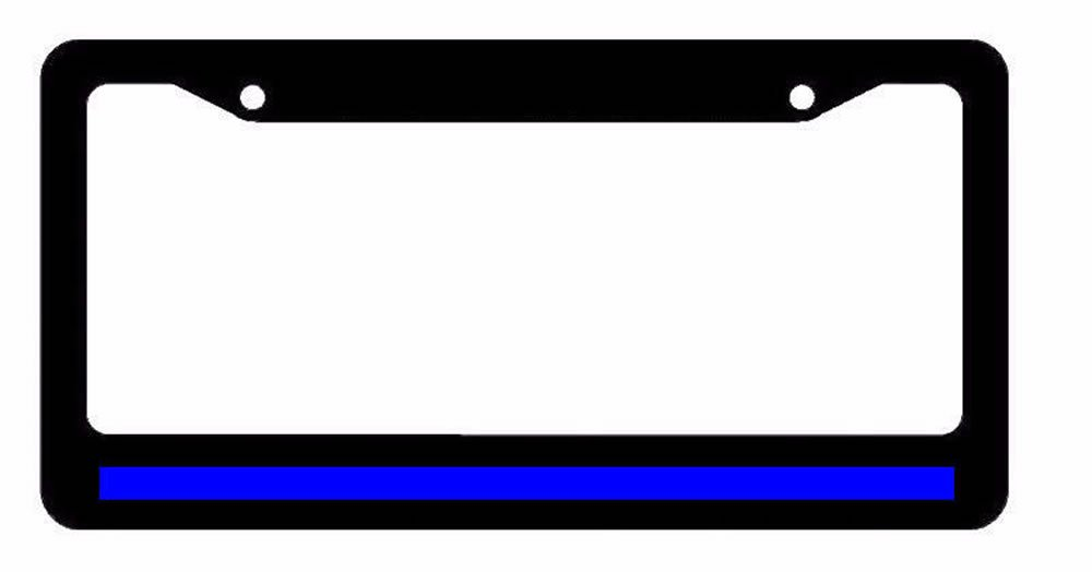 Contemporary Thin Blue Line License Plate Frame Component - Framed ...