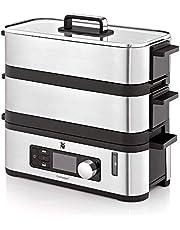 WMF Küchenminis Mini-stoompan, 4,3 l, stoomkoker met geheugenfunctie, warmhoudfunctie, restlooptijdweergave, 2 individueel regelbare gaarcontainers