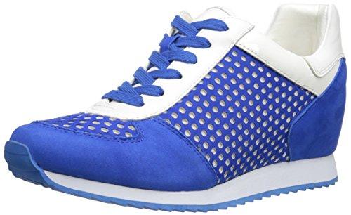 Nine West Women's Telly Nubuck Fashion Sneaker, Blue/Multi, 8.5 M US