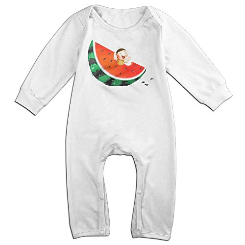 Baby Sour Patch Kid Costume (Baby Infant Romper Cute Watermelon Long Sleeve Jumpsuit Costume White 24 Months)
