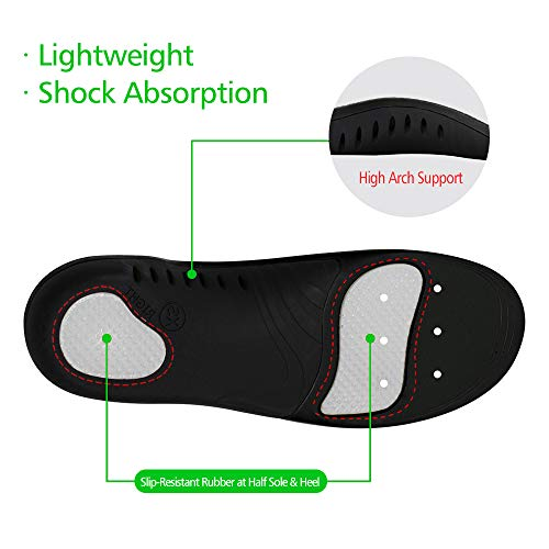 Snapsmile Scientifically Proven Plantar Fasciitis Orthotic Inserts - Shoe Insoles for Men and Women Arch Support Shoe Inserts Women Professional Insoles for Flat Feet Relieve Foot Pain - Black, L by Snapsmile (Image #4)