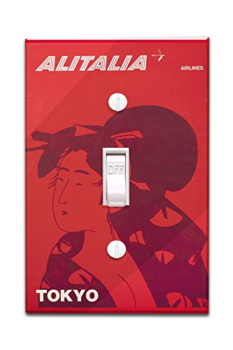 alitalia-tokyo-vintage-poster-italy-c-1960-light-switchplate-cover