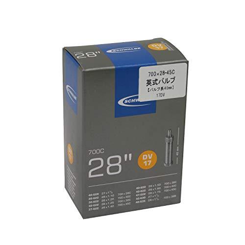 Schwalbe Fietsbinnenband 700C DV17 slang, zwart, 28″