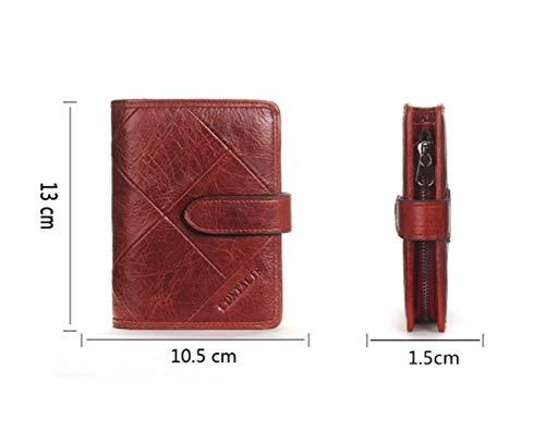 Zipper Main Cuir Boucle color Zero Haxibkena Pour Sac À Red Purse Homme Main Et Red qUwaHTcSc1