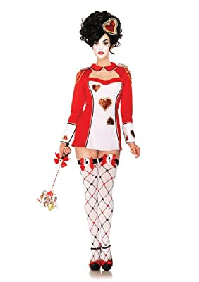 Leg Avenue Women's 3 Piece Card Guard Keyhole Dress And Glitter Head Piece