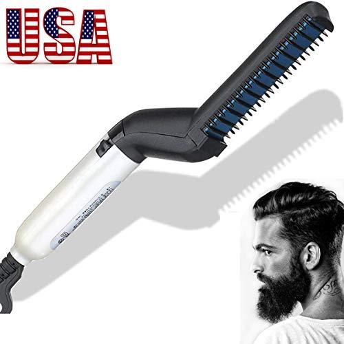 Quick Hair Straightening, Beard Straightening Comb Curly Hair Straightening Curler Comb GREATSSLY Men's Professional Quick Hair Styler Multifunctional Hair Comb Curling Iron -