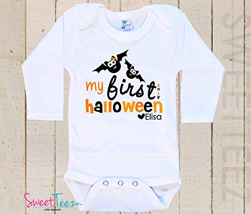 Personalized first Halloween Shirt Baby Bodysuit Personalized Halloween Outfit -