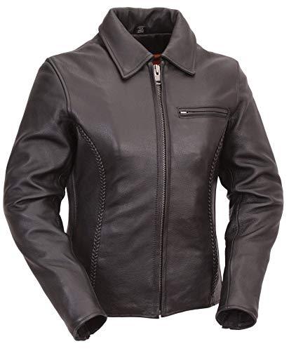 (First Manufacturing Women's Clean Cruiser Jacket (Black, XX-Large) )