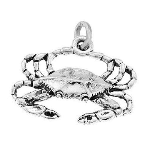925 Sterling Silver New Orleans Blue Crab Charm/Pendant Jewelry Making Supply Pendant Bracelet DIY Crafting by Wholesale - Silver New Charms