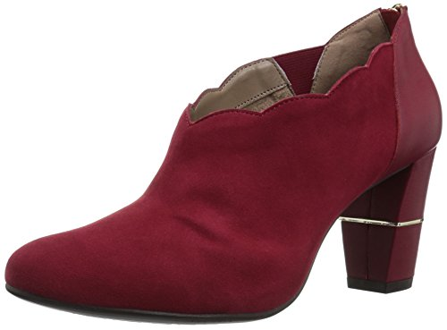 Aerosoles Womens Teleport Ankle Boot Dark Red Suede