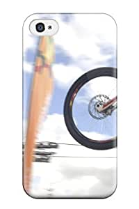 Durable Case For The Iphone 4/4s- Eco-friendly Retail Packaging(mountain Bike Jump )