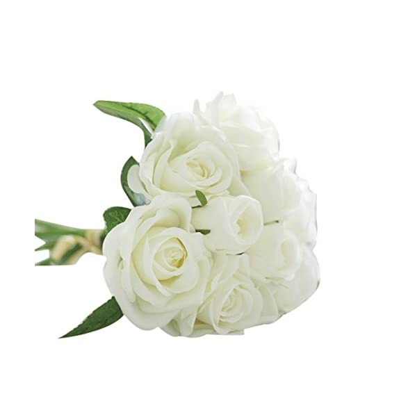 YJYdada-9-Heads-Artificial-Silk-Fake-Flowers-Leaf-Rose-Wedding-Floral-Decor-Bouquet