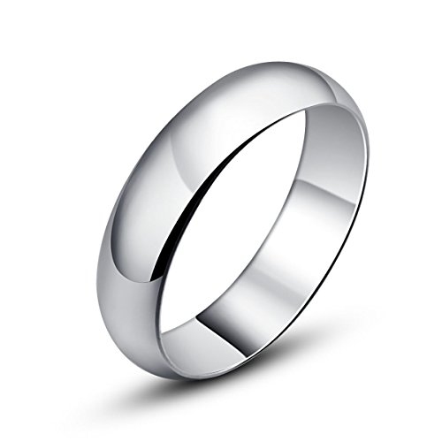 5 Mm Width Glossy Finish Solid Sterling Silver 925 Wedding & Engagement Bands Sizes 6.25,7,8,8.5,9.25,9.75 (7)