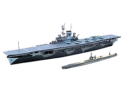 1/700 water line US Navy aircraft carrier WASP (WASP) and the Japanese Navy submarine I 19