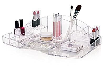 Clear Plastic Cosmetic Storage and Makeup Organizer