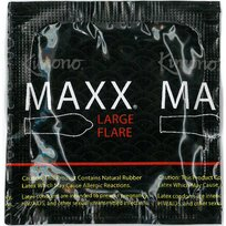 Kimono Maxx FLARE Premium Large Lubricated Latex Condoms and Silver Pocket/Travel Case-24 Count