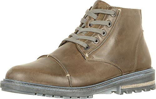 Naot Footwear Men's Mikumi Vintage Fog Leather/Mulberry Suede 46 M - Mulberry Collection Leather