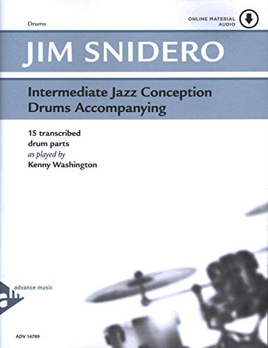 Jamey Snidero-Intermediate Jazz Conception for Drums-Book & CD