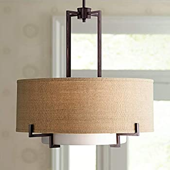 Amazon.com: Lámpara de techo de níquel satinado con sombra ...