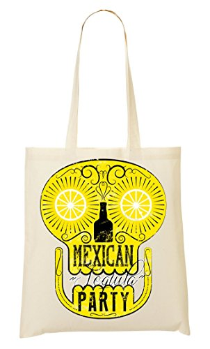 Crazy Mexican Tequila La Drinks Shape Simple Bolsa De Summertime Compra Bolso in De Mano skull party 11A5wrxqC