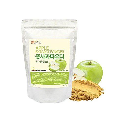 Green Apple Extract Powder Natural 100% Pure Fresh Dietary Fiber Vitamin C 200g (Apple Green Natural)
