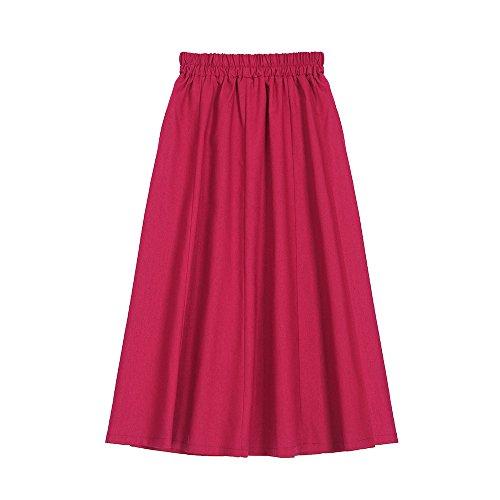 Oudan Jupe mi-Longue Jupe mi-Longue Femme Jupe mi-Longue Femme Swing Rouge Rouge