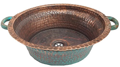 Handcrafted Copper Bathroom Sink - 3