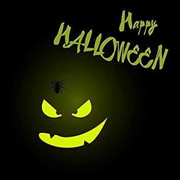 Happy Halloween Backdrop 8x6.5ft Trick or Treat Photography Background Costume Ball Masked Kids Grimace Pumpkin Lamp Scary Night Full Moon Bat Ceretery Carnival Holiday Photo Prop Studio