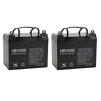 12V 35AH Wheelchair Scooter Battery Replaces Sigmas SP12-35 - 2 Pack
