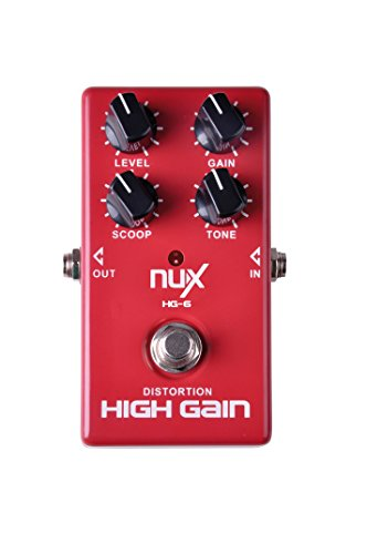 Grunge Distortion Guitar (NUX HG-6 Electric Guitar High Gain Distortion Effects Pedal Modern American Distortion Heavy Rock True Bypass)