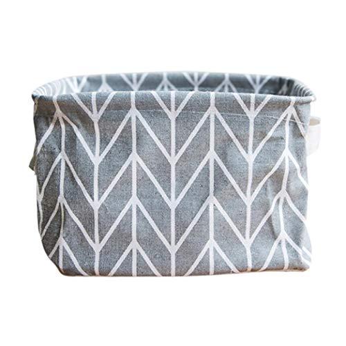 Storage Bin Closet Box Container Desk Organizer Fabric Basket Makeup Organizer Cosmetics Case Pencil Case (Gray)