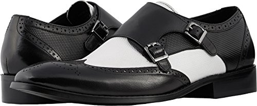 clearance best prices Stacy Adams Men's Lavine Black/White for sale wholesale price outlet classic sale the cheapest CIaBO8xE