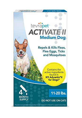 TevraPet Activate II Flea and Tick Prevention for Dogs  Topical 1120 Lbs